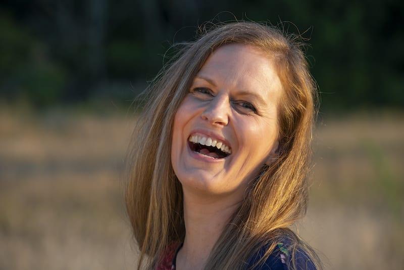 Jennifer Whitaker laughing in the sunshine