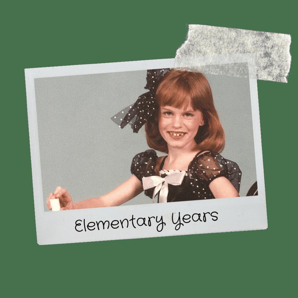 Jennifer Whitaker as a child in a dance costume