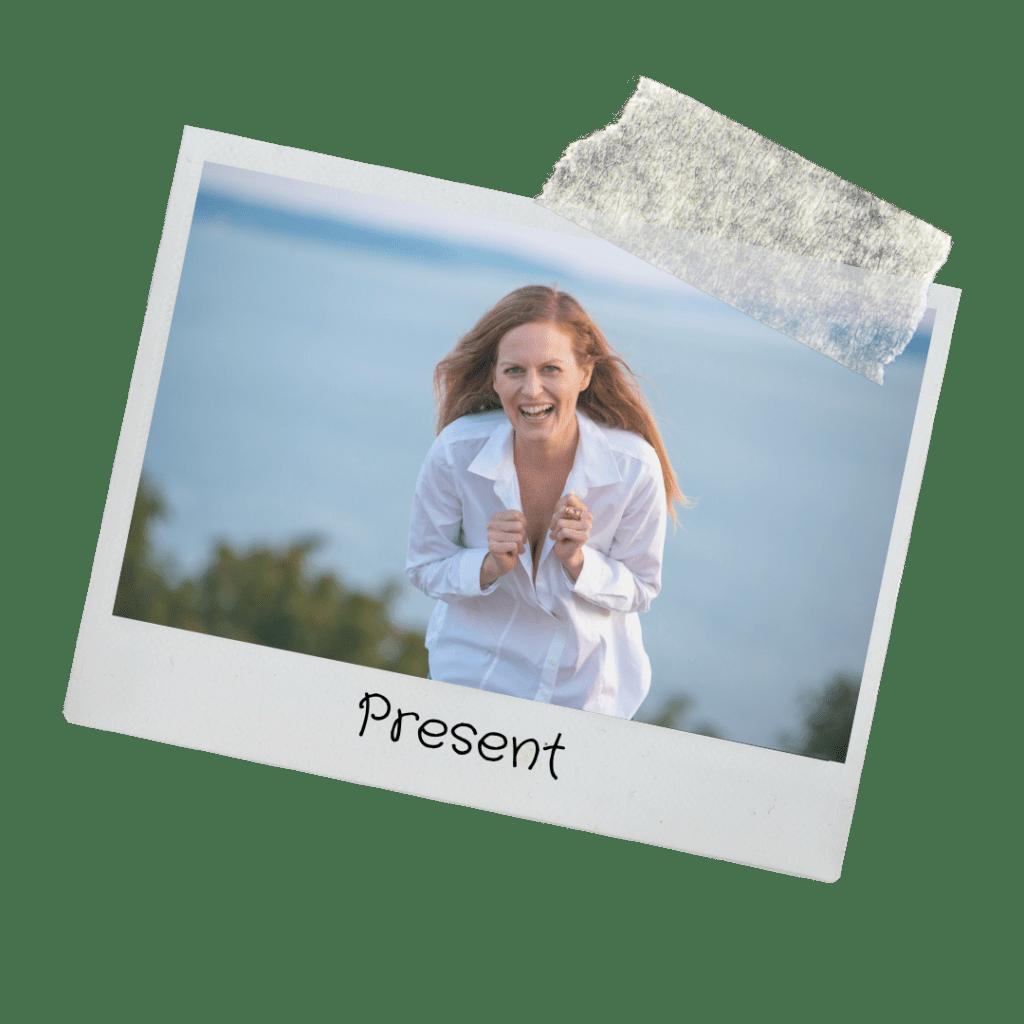 Jennifer Whitaker laughing by Puget Sound